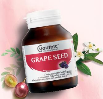 润肤自带镁光灯,葡萄籽精华助你肌肤逆龄